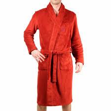 robe de chambre en velours peignoir d intérieur christian en velours à col châle