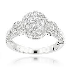 women s engagement rings multi circle womens diamond engagement ring 1 33ct 14k gold