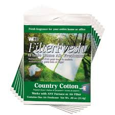 Home Fresh by Filter Fresh Country Cotton Air Fresheners For Air Filters 6 Pack