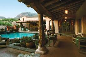 courtyard home designs with well spanish hacienda courtyard house