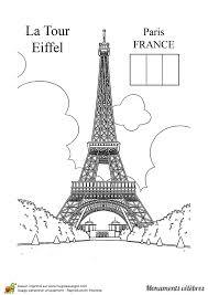 envole toi pour paris dans ce dessin à colorier de la tour eiffel