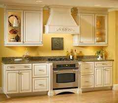 kitchen color idea vibrant yellow kitchen color idea for small interior with