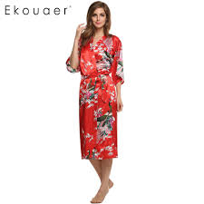 robe de chambre satin femmes satin kimono robe de nuit pyjama de soie peignoir occasionnel