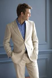 mens linen wedding attire groomsman inspiration bright shirt w linen suit linen suits