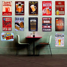 aliexpress com buy retro plaque drink beer metal tin sign home drink cold beer with friends metal tin signs vintage home decor wall art poster metal painting for pub bar tavern decorc001