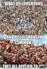 Texas A M Memes - ut vs a m meme