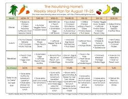 meal plan monday august 19 u2013 september 1 meals menu and peach