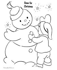 christmas coloring sheets snowman