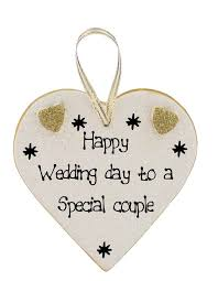 happy wedding day happy wedding day plaques click for choice of messages