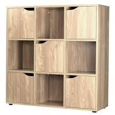 wooden 4 6 9 cube storage unit cupboard doors bookcase shelving