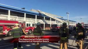 fire burns at purple urchin restaurant at hampton beach youtube