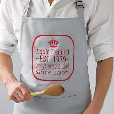 personalised kitchen aprons siteop personalised king the kitchen apron sparks clothing