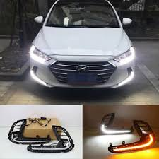 hyundai elantra daytime running lights 2x led daytime running lights fog l w turn signal for hyundai