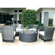 patio set with fire table ideas patio furniture with fire pit table