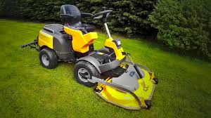 stiga park pro 540 ix mulching ride on mower review in hd youtube