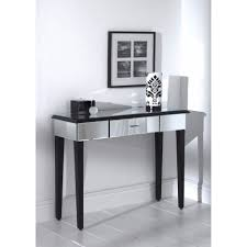 glass mirrored console table mirrored console table furniture living rooms mirrored console table
