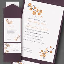 pocket invites wedding blossom pocket invitation flamingo