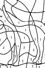 coloriage codé moyenne section en ligne gratuit à imprimer