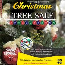christmas tree sale christmas tree sale video1 template postermywall