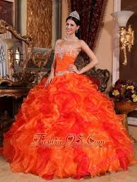 orange quinceanera dresses discount orange quinceanera dress sweetheart organza appliques and