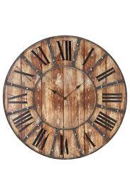uma rustic vintage metal wood clock 24x24 hautelook