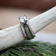 deer antler wedding band antler rings deer antler wedding rings camo rings for men