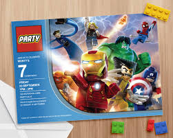 Superhero Invitation Card Lego Avengers Party Invite Editable And Printable Print As