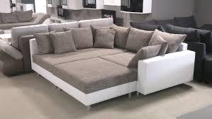 sofa mit ottomane mit hocker weiß und graubeige ottomane links
