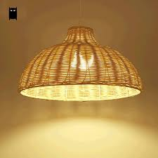 Wicker Pendant Light Wicker Pendant Light Fixture Asia Japanese Rustic