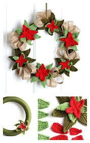 10 wreath crochet patterns poinsettia