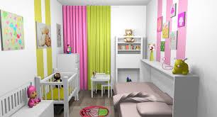 chambre fille vert chambre mixte fille bébé bandes peinture touches vert anis 2