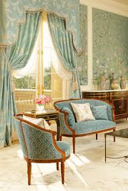 Painting Fabric Curtains Hand Painted Chinoiserie Walls And Soft Blue Upholstery Such A