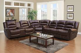 comfortable leather sectional sofa with recliner and chaise