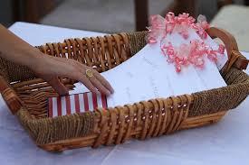 basket for wedding programs an italian wedding a runner s