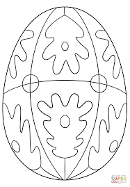 patterned easter egg coloring page free printable coloring pages