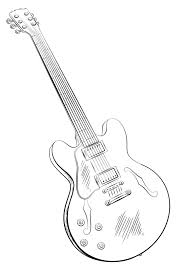guitar coloring pages printable free coloringstar