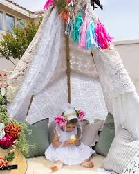 bohemian tribal teepee party a u0027s birthday party for the