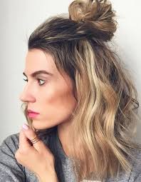part down the middle hair style top 16 medium length half up half down hairstyles 2017