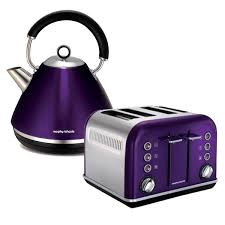 Morphy Richards Toaster Cream Morphy Richards 4 Slice Toaster U0026 Kettle Pack Plum Billy Guyatts