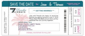 Boarding Pass Save The Date Custom Passport Invitation Cards