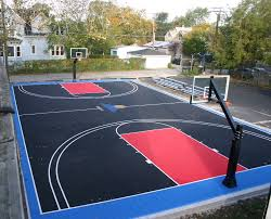 Backyard Basketball Court Imposing Design How Much Does A Sport Court Cost Best Backyard