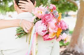 theme wedding bouquets 80 s pop themed wedding pink aqua gold wedding 100