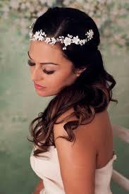 bridal headpieces verity flower halo bridal headpiece