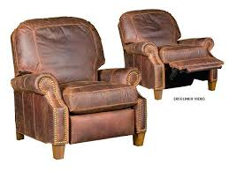 tan leather recliner tan leather reclining sectional small brown
