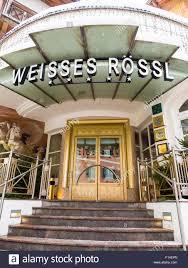 weisses rössl hotel kitzbuhel district tyrol austria stock