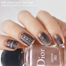 try out tribal matte top coat nail art ideas nail art designs 2016