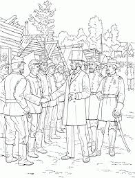 president abraham lincoln greeting soldiers civil war coloring