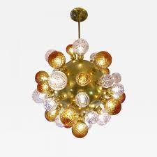 Brass Chandelier Italian Modern Sputnik Brass Chandelier With Crystal And Gold