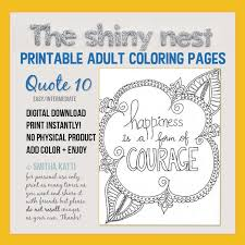 printable mindfulness quotes printable coloring page adult coloring art therapy