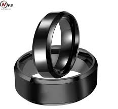 titanium wedding ring sets nfs 8mm 6mm black plating titanium wedding bands couples rings